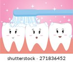 happy cute cartoon tooth and... | Shutterstock .eps vector #271836452