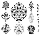 damask ornaments   set of... | Shutterstock .eps vector #271837565