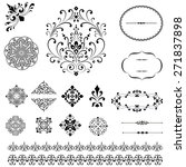 ornament set   set of black... | Shutterstock .eps vector #271837898