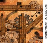 steampunk with rusty pipes | Shutterstock . vector #271837928