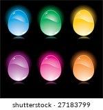 set of shining glossy eggs | Shutterstock .eps vector #27183799