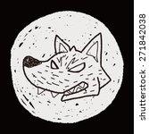 werewolf doodle | Shutterstock . vector #271842038