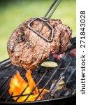 beef steak on grill | Shutterstock . vector #271843028