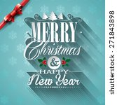christmas illustration with... | Shutterstock . vector #271843898