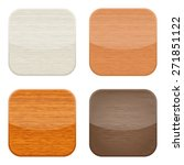 buttons with wooden background... | Shutterstock .eps vector #271851122