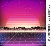 80s retro futurism sci fi... | Shutterstock . vector #271855472