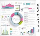 a big set of business... | Shutterstock .eps vector #271863398