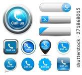 call us icon   Shutterstock . vector #271868015