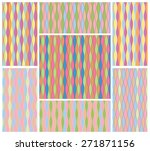 set of abstract colorful motley ... | Shutterstock .eps vector #271871156
