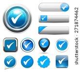 check mark button | Shutterstock . vector #271874462
