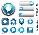 talk bubble icon | Shutterstock . vector #271881578