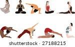 yoga silhouettes | Shutterstock .eps vector #27188215