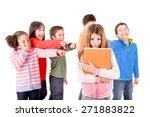 little kids bullying another... | Shutterstock . vector #271883822