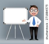 realistic smart professor or... | Shutterstock .eps vector #271884575