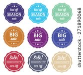 spring offer stickers with... | Shutterstock .eps vector #271890068