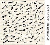 illustration of arrows on a... | Shutterstock .eps vector #271891715