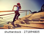healthy lifestyle sports woman...   Shutterstock . vector #271894805
