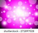 bokeh on pink blurred... | Shutterstock . vector #271897028