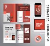 vector design brochure template ... | Shutterstock .eps vector #271898852