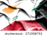 waving flag of kuwait and cyprus | Shutterstock . vector #271908752