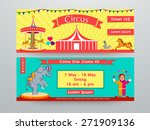 circus banner or website header ... | Shutterstock .eps vector #271909136