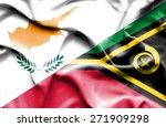 waving flag of vanuatu and... | Shutterstock . vector #271909298