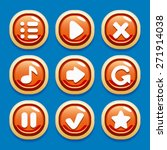 vector collection of buttons...