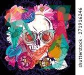 vector illustration of skull... | Shutterstock .eps vector #271916246