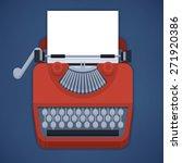 flat design typewriter with... | Shutterstock .eps vector #271920386
