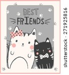 cute cats illustration for... | Shutterstock .eps vector #271925816