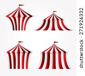 four variations of circus tent   Shutterstock .eps vector #271926332