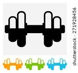 dumbbell icon | Shutterstock .eps vector #271928456