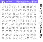 universal thin line interface... | Shutterstock .eps vector #271932518
