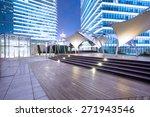 empty footpath nearby modern... | Shutterstock . vector #271943546