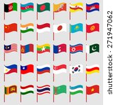 world flags on red pole part 3... | Shutterstock .eps vector #271947062