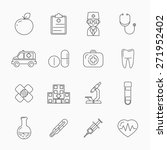 medicine thin line icons. patch ... | Shutterstock . vector #271952402