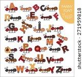 ants letters | Shutterstock .eps vector #271959818