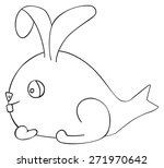 figure of april fish hare on... | Shutterstock .eps vector #271970642
