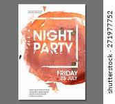 summer night party vector flyer ... | Shutterstock .eps vector #271977752