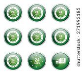 24 hours services green vector... | Shutterstock .eps vector #271992185