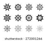 nautical ship wheel icons   Shutterstock .eps vector #272001266