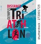 triathlon. poster  triathlon... | Shutterstock . vector #272001725