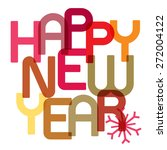 happy new year card   vector... | Shutterstock .eps vector #272004122