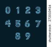 x ray alphabet numbers | Shutterstock . vector #272010416
