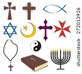 religious symbols | Shutterstock .eps vector #272013926