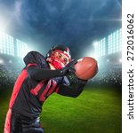 football  catching  american... | Shutterstock . vector #272016062