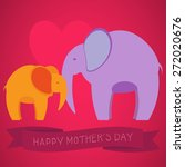 vintage happy mother's day card ... | Shutterstock .eps vector #272020676