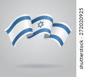 israeli waving flag. raster... | Shutterstock . vector #272020925