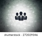 marketing concept  painted...   Shutterstock . vector #272029346