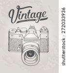 vintage retro camera. hand... | Shutterstock .eps vector #272033936